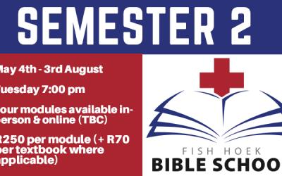 Fish Hoek Bible School – Semester 2